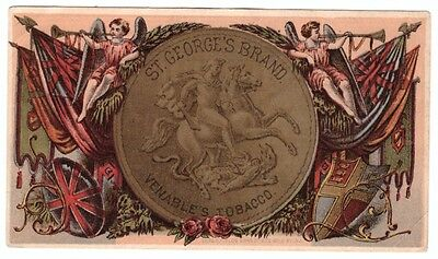 1880's Trade Card Venable's St. George Tobacco Holbrook Keene New Hampshire
