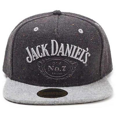 Jack Daniels - Silver Old No.7 Brand Snapback / Wide Bill Cap - New & Official