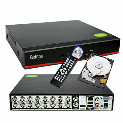 Dvr Recorder 16 Ch Canali Audio Video Lan Hd Hard Disk 1 Tb Cloud H.264