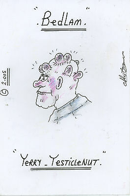 Charles Bronson SIGNED AUTOGRAPH and Prison Artwork Terry Nut AFTAL