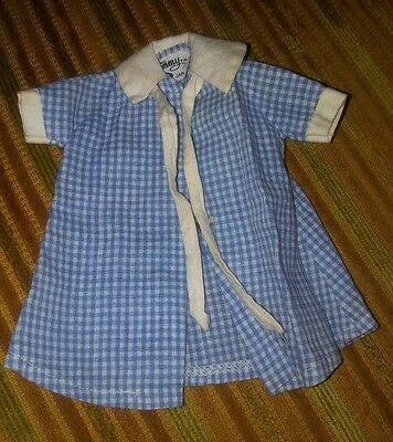 Tammy Doll Clothes  Housecoats Blue Checkered Ideal Vintage Nice!!