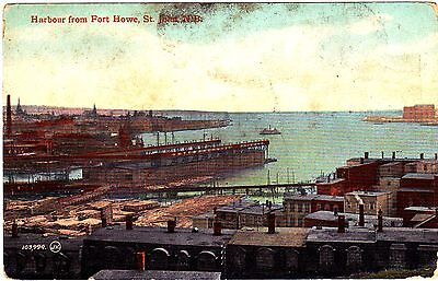 Postcard showing The Harbour from Fert Howe,St. John,Canada.