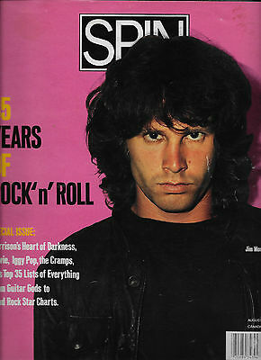 Doors/Jim Morrison EARLY ISSUE OF SPIN MAGAZINE W IJIMBO ON THE COVER/EXCELLENT!