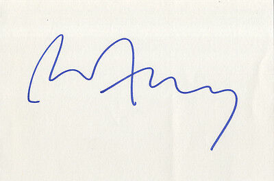 Bryan Ferry - ' Roxy Music ' - In Person Signed White Card.