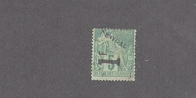 """Senegal   #32   Used   """"french Colonies Stamp Of 1881-1886 Surcharged In Black"""""""
