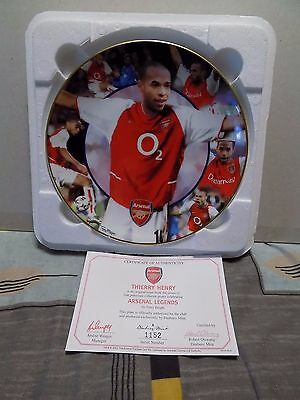 Danbury Mint Collectable Official Arsenal Legends Plate Thierry Henry Certicate