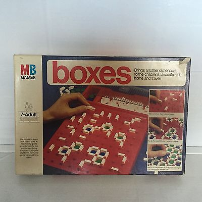 Boxes Board Game By MB Games 1976 Edition Rare - Complete VGC