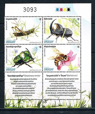 Bloc Sheet  Insectes Insects Neuf ** MNH - Uruguay 2013