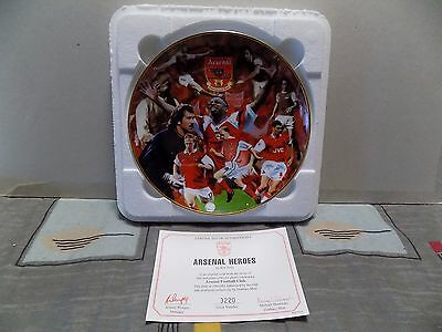 Danbury Mint Collectable Official Arsenal Heroes Plate Legend Players Certicate