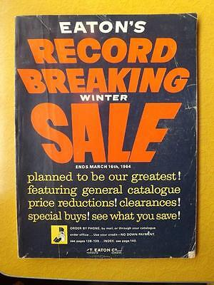 Eatons Canada Catalogue 1964 Vintage Record Breaking Winter Sale Boat Motors