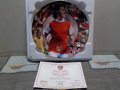 Danbury Mint Collectable Official Arsenal Legends Charlie George Plate Certicate
