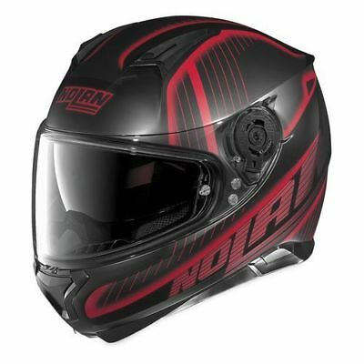 Nolan N87 Harp N-COM 019 Flat Black Red, Full-face helmet, N Com, NEW