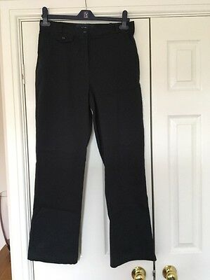 Ladies Navy Trousers By Tulchan Size 12