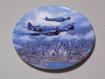 Royal Doulton Collectable WW II Plate Beaufighter Over the Liver Building Ltd Ed