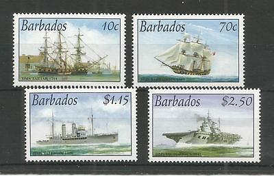 Barbados 2003 Royal Navy Connections Sg,1226-1229 Um/m Nh Lot 2675A