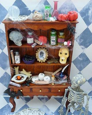 Dolls House Miniature 12Th Scale Witch Wizard Dresser + Lots Of Accessories