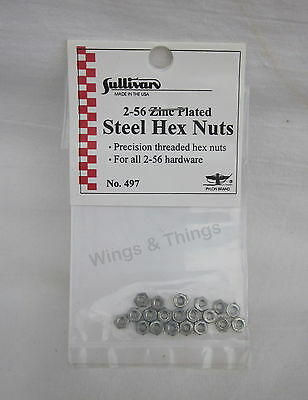 Sullivan 2-5 Zinc Plated Hex Nuts