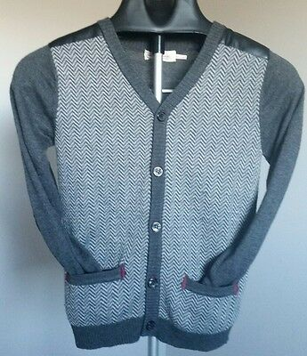 Boys Cardigan Size 7 - DEUX PAR DEUX Mint Condition