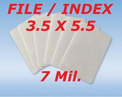 3 x 5 Quality Laminating Pouches Sheets 3-1/2 x 5-1/2 Index Card 7 Mil 50- Pack