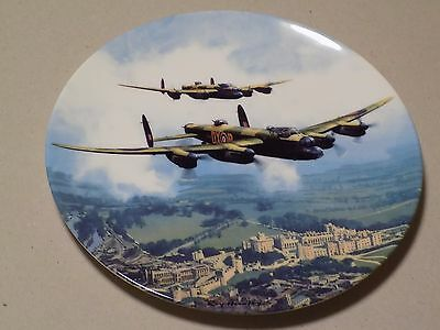 Royal Doulton Collectable WW II Plate Lancaster Over Windsor Castle Ltd Edition