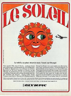 Publicite Olympic Airways Cie Aeienne Psyche Ad  1964