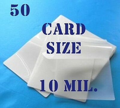 50 Card Size Laminating Laminator, Pouches Sheets  Thick 10 Mil 2-5/8 x 3-7/8