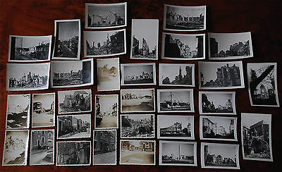 Lot 34 Photos Originales Bombardements Saint-Nazaire, Guerre 39-45. Poche, 44