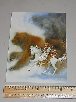 """Collectible unused Bev Doolittle art note card """"Two Bears"""""""
