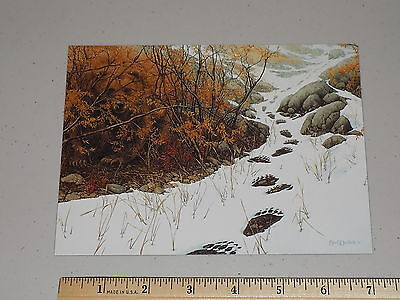 """Collectible unused Bev Doolittle art note card """"Bear and Tracks"""""""