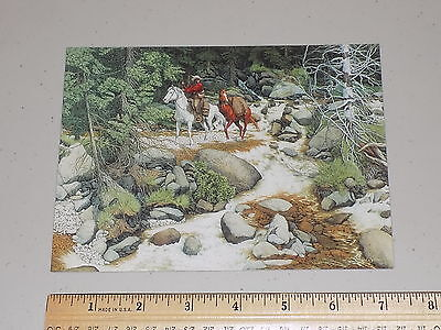 """Collectible unused Bev Doolittle art note card """"Two Horses and Faces in Rocks"""""""