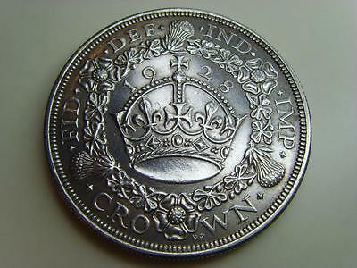 1928 Silver Wreath Crown King George V British Coin Great Britain