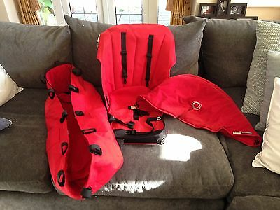 Bugaboo Cameleon RED Hood Bassinet With Board And Mattress Plus Seat Cover