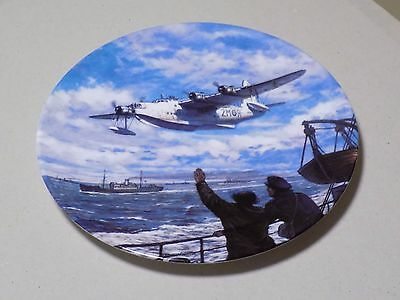 Royal Doulton Collectable WWII Plate Convoy Duty Guardians of the Sea Collection