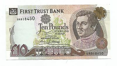 FIRST TRUST BANK £10 pounds Stirling banknote 1st January 1998