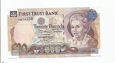 "First Trust Bank £20 banknote sterling ""Rare"""