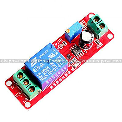 New 12V Delay Adjustable Timer Relay Switch Module 0-10 Second NE555 Oscillator