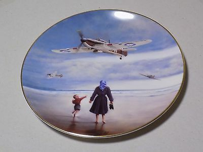 Royal Doulton WW II Plate Defenders of the Realm Hurricanes Coming Home Collect
