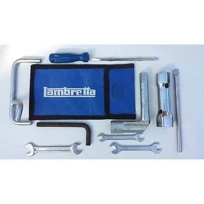 LAMBRETTA Road Side Repair Tool Kit Bag/Pouch Spanners Sparkplug Wrench