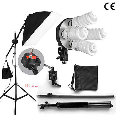 760W Photography Soft Box Continuous Lighting Studio Softbox Boom Arm Stand Kit