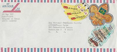 Tonga Scouting Boat 1974 Cover To Usa Colourful Fr.