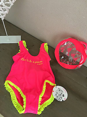 "♥ BILLIEBLUSH Baby Badeanzug Swimsuit pink Volants ""Born to be a Princess"" NP 36"