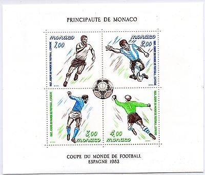 Monaco - 1982 - World Cup Soccer - In Spain - Ss - Mnh