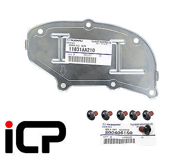 Oil Separator Back Cover Plate & Bolts 11831AA210 Fits Impreza Forester Legacy