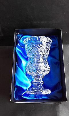 """New Waterford Crystal 7"""" Thistle design vase, beautiful collectable."""
