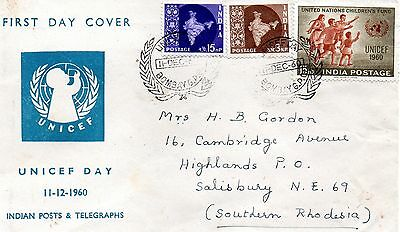 India 1960 UNICEF day first day cover