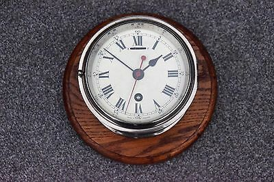 1940s/50s ORIGINAL CHROME GPO WALL CLOCK WITH A SMITHS ASTRAL 8 DAY MOVEMENT
