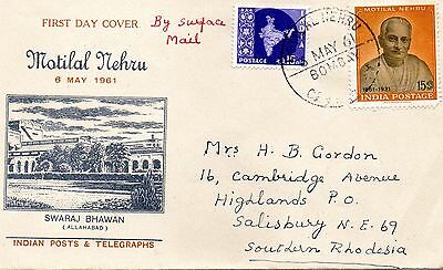 India 1961 Motilal Nehru first day cover