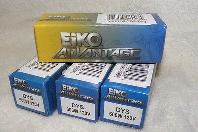 New EIKO Projector LAMP DYS Projection Bulbs 120V 600W GE Lot of 4
