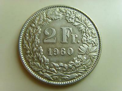 1960 B Switzerland 2 Francs Helvetia Swiss Coin 2 Fr Two