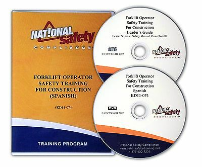 Forklift Operator Safety DVD Video SPANISH Training Kit For Construction Ind